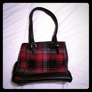 Handbags - Plaid wool shoulder bag